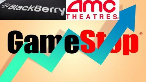 GameStop AMC y Black Berry acciones - ahora us