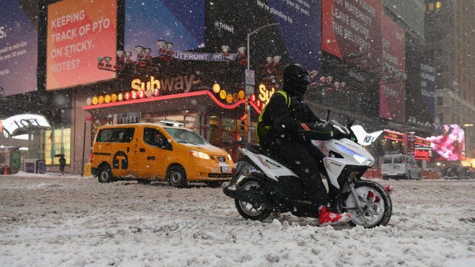 Enorme tormenta de nieve azota la costa este de EE. UU. - ahora us